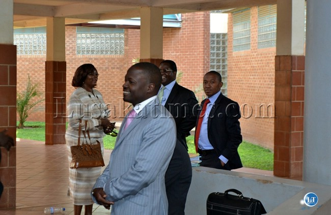 National Airports Corporation managing director Robinson Misital after testifying in Dora Siliya's radar case at the Lusaka Magistrate Court