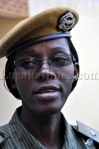 Zambia police spokesperson Charity Chanda