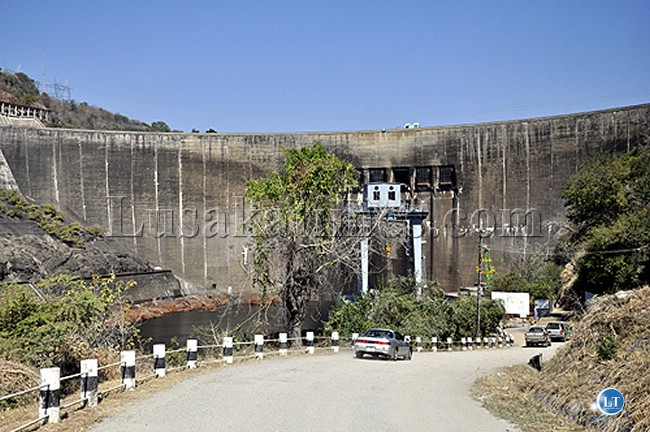 The dam wall at the Kariba North Bank Power station