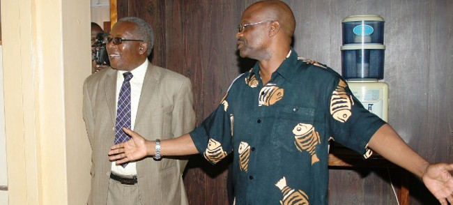 INFORMATION Deputy Minister, Mwansa Kapeya(L)