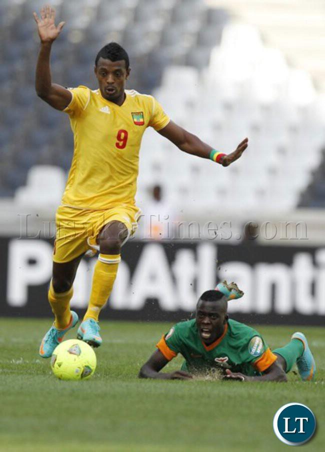 Chisamba Lungu in Zambia Vs Ethiopia Match
