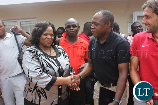 Mbombela Local Municipality Executive Mayor  Cathy Dlamini came around visiting the national team
