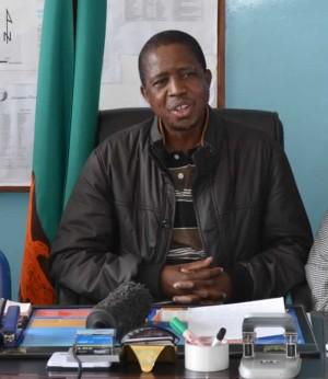 Home Affair Minister Edgar Lungu
