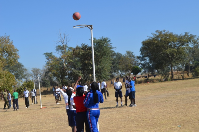 ZAF officers playing netball at DALICE grounds