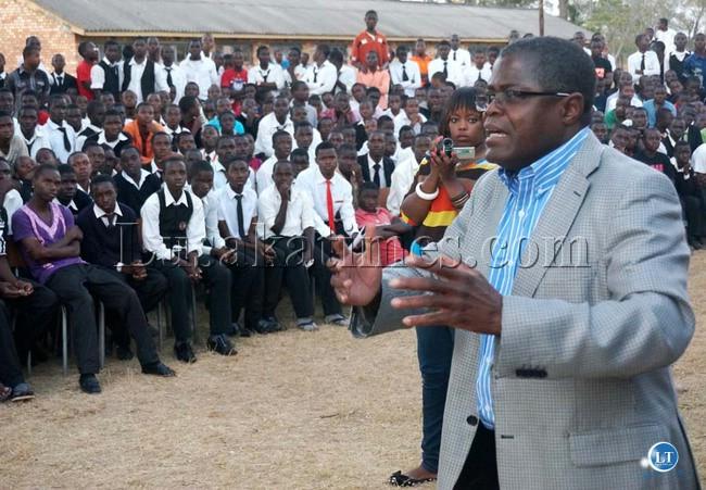 Mines, Energy and Water Development Minster Christopher Yaluma