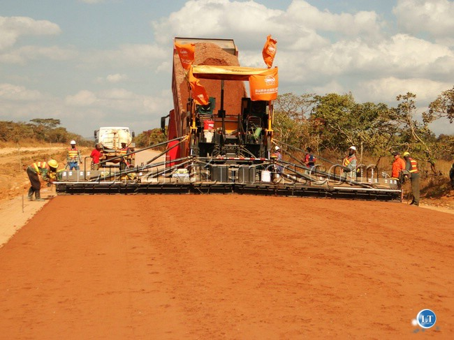Mbala-Nakonde road under construction