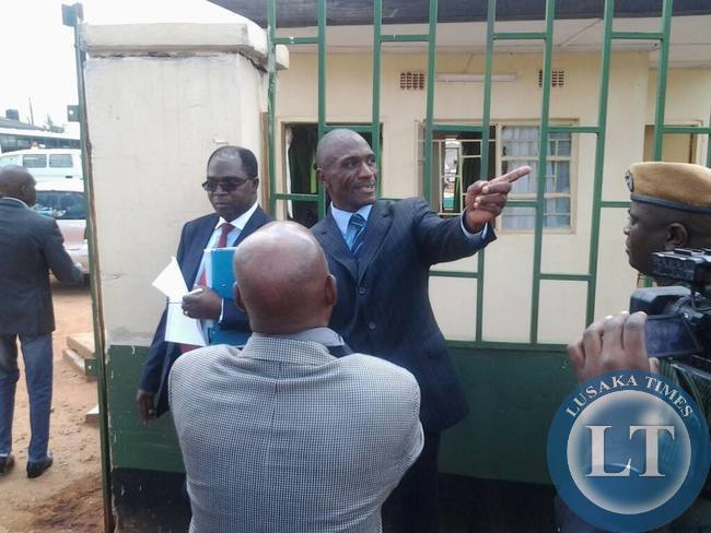 Andrew Banda after sentencing