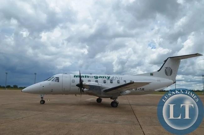 Mahogany Airline makes an inaugural landing at Harry Mwaanga Nkumbula International Airport in Livingstone