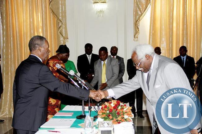 President Michael Sata Swearing in Mumba Kapumpa as Ambassador to South Korea
