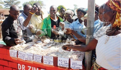 SEX BOOSTERS UP FOR SALE! Scores of men and women flocked to the stand where sex boosters were being sold to enquire about and buy the traditional medicines at the on-going Copperbelt Mining, Agriculture and Commercial Show in Kitwe