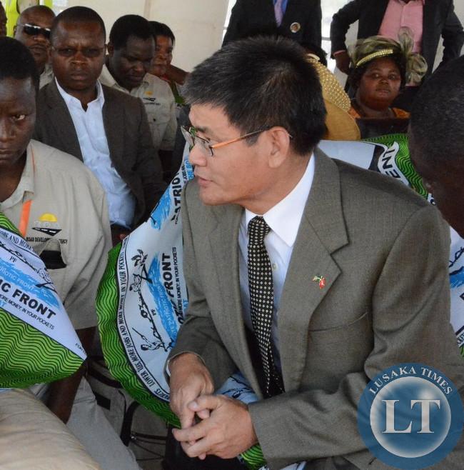 New Chinese ambassador to Zambia Yang Yoaming