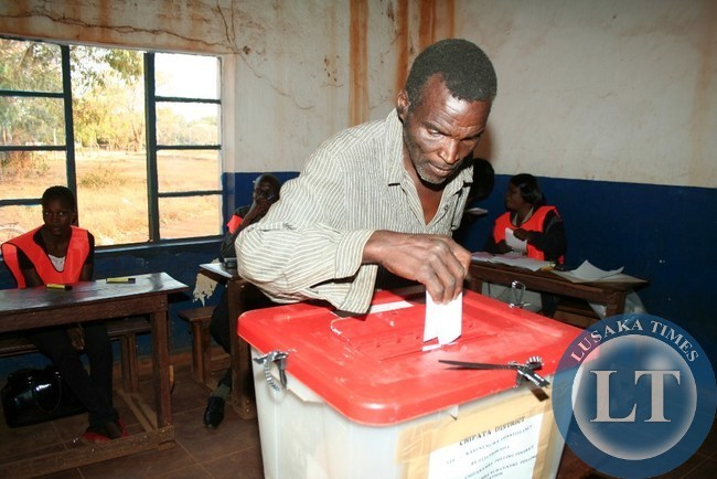 HIGHCOURT Phiri, casts his vote at Chiparamba Sub-centre in a Kasenengwa by-election in Chipata