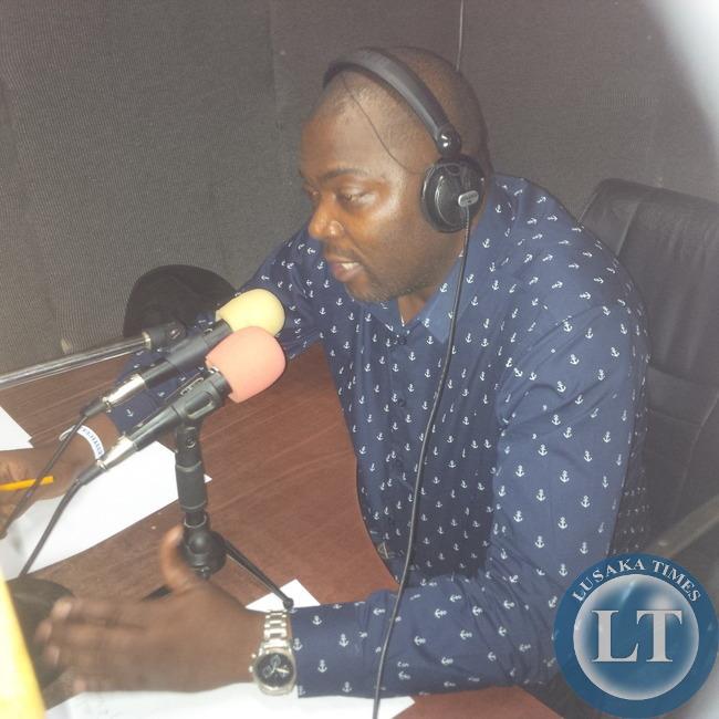 Bowman Lusambo speaking on Mazabuka FM on Saturday