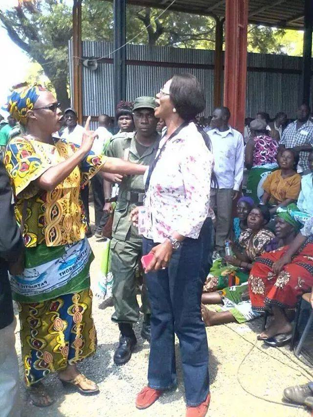 Former Munali MP Mumbi Phiri and PF Chairperson for Elections Sylvia Masebo in angry verbal exchange