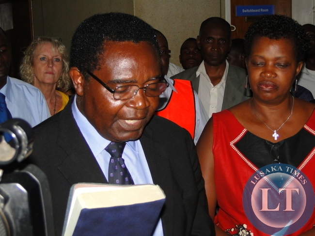 Godfrey Miyanda with Wife