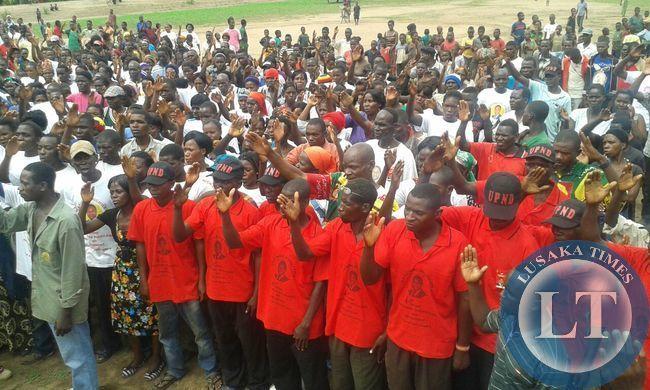 Rally at Chiutika Primary School, Malambo