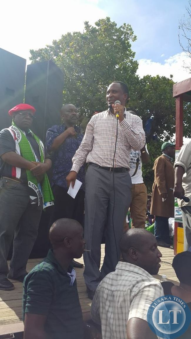 UPND MP and Provincial Minister Siamunene
