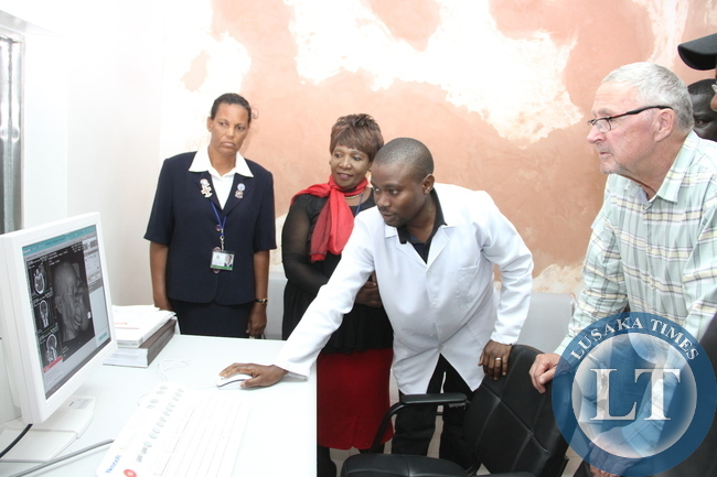 The Monitor output of the CT Scanner at Ndola central Hospital