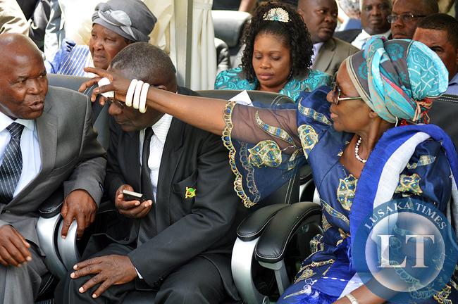 Inonge Wina during the Inauguration Ceremony