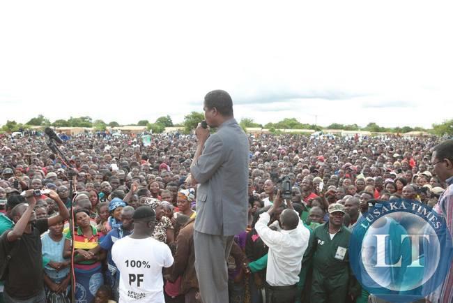 Edgar Lungu adressing the Petauke Rally