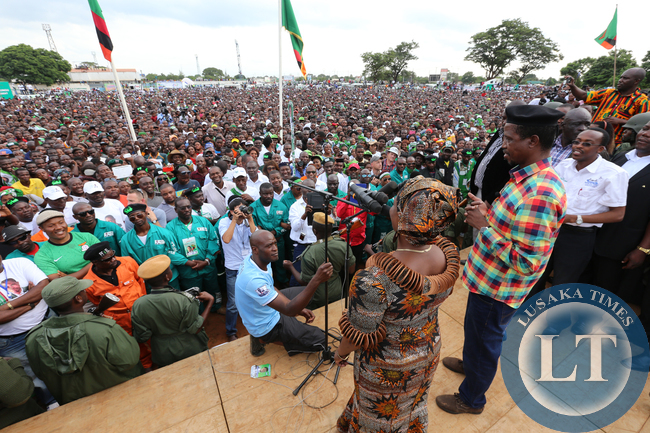 Ester Lungu with Her husbands at Woodlands Last rally