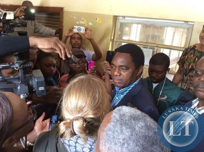 HH speaking to Journalists just before casting his vote