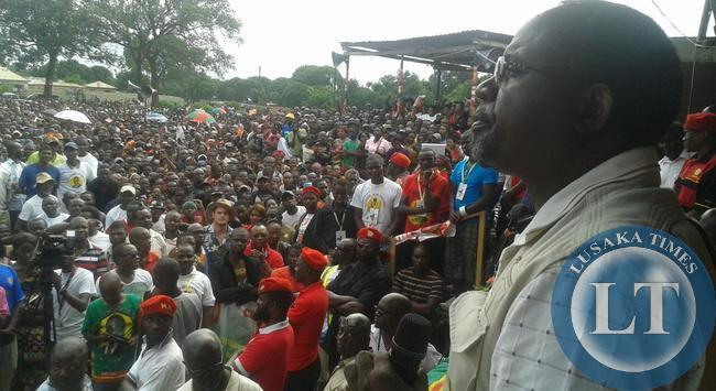 FILE: Percy Chanda addressing the Chingola rally