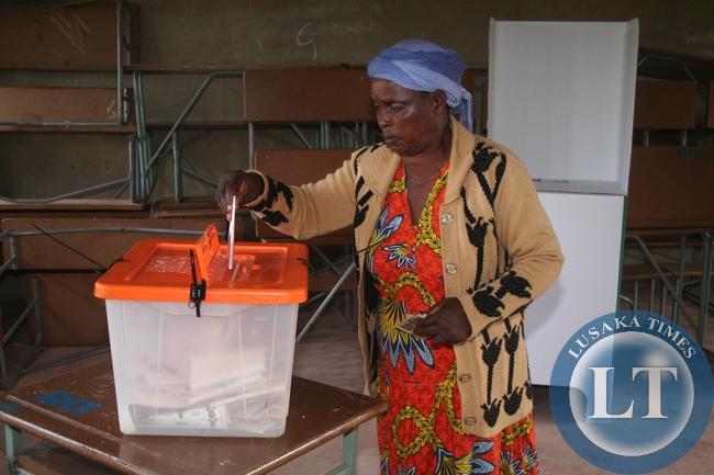 Presidential voting in Solwezi, Zambia