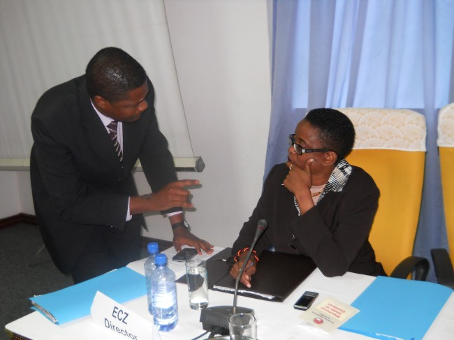 Electoral Commission of Zambia Director Priscilla Isaacs