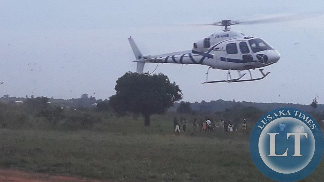 Edgar Lungu arrives in Isoka  from Chipata for a rally