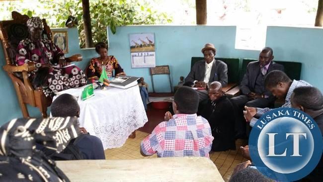 Meeting the Chief in Samfya
