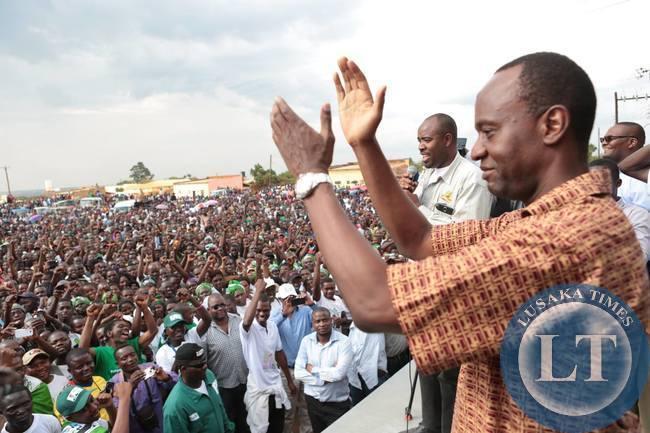 Mulenga Sata at the Rally in Mpika