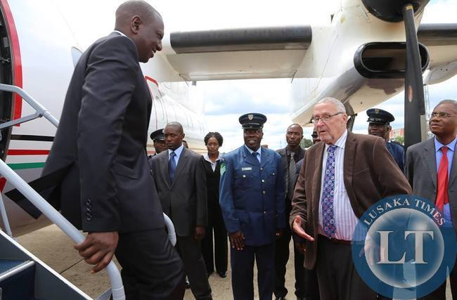 Deputy President of Kenya  Willian Ruto arrives at KKI