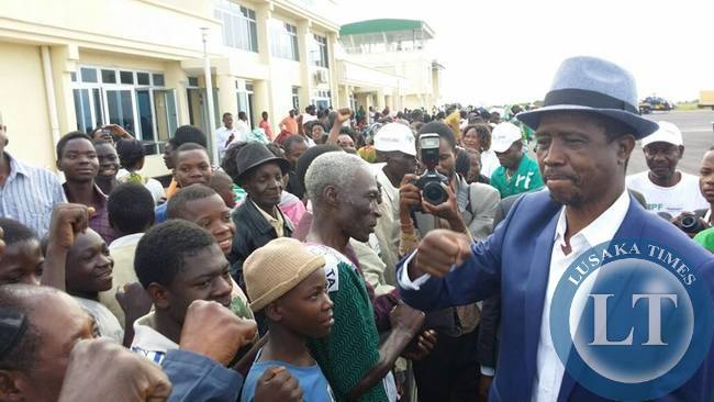 Edgar Lungu arrives in Luapula Province