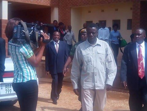 Maxwell Mwale at the Magistrate Court this morning