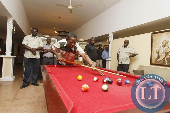 President Edgar Chagwa Lungu at Chichcele Presidential Lodge on Saturday,February 7,2015.PICTURE BY SALIM HENRY/STATE HOUSE