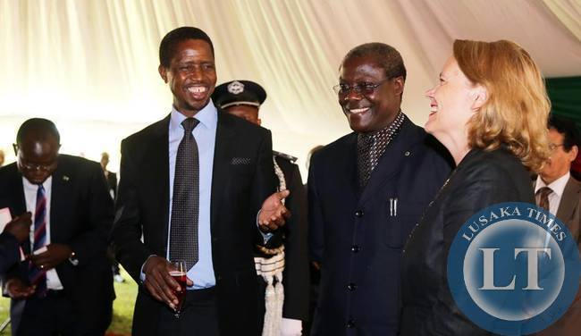 President Edgar Chagwa Lungu with Justice Minister