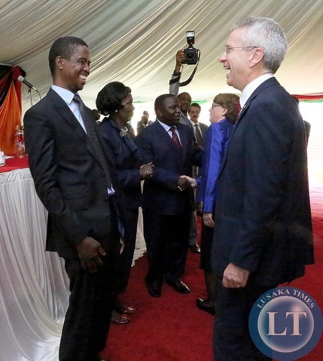 President Edgar Lungu  with British High Commissioner