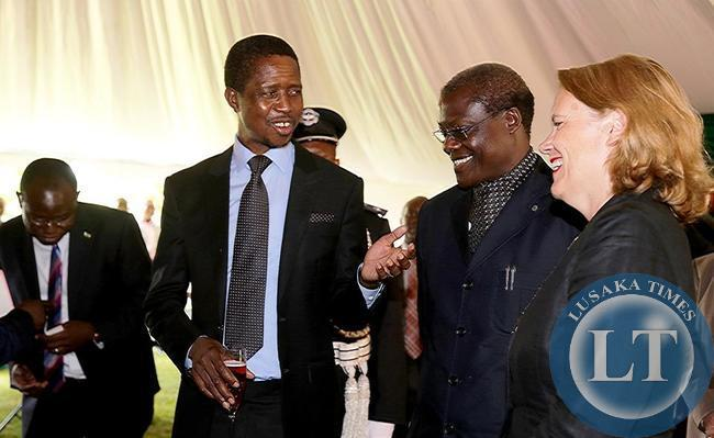 President Edgar Chagwa Lungu with Justice Minister