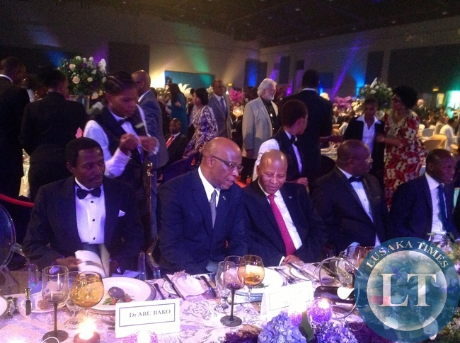 Dr Mumba chats with the Chief Justice of South Africa at the GBR Gala Dinner
