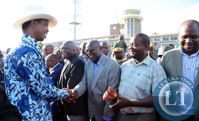 President Lungu Grees Mr Godfrey Malama PS information