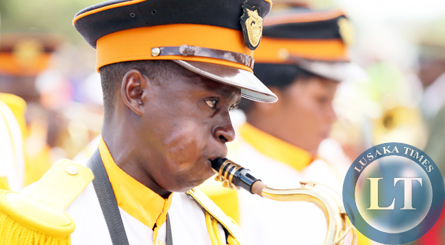 ZNS BAND at Youth Day Celebrations at the Freedom Statue in Lusaka on March 12,2015.PICTURE  BY EDDIE MWANALEZA/ STATEHOUSE.