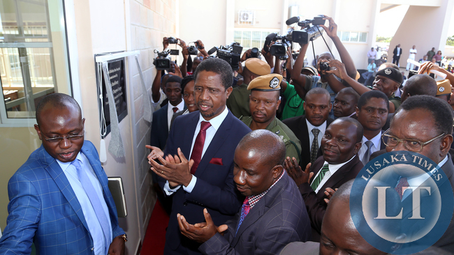 President Lungu Commissions Micheal Chilufya Sata Hospital in Mpika