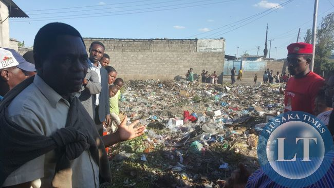 HH visits the garbage site which had uncollected garbage
