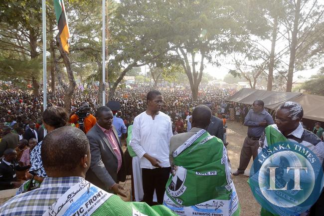 President Edgar Lungu with Ricahrd Kapita at Mwinilunga rally Boma