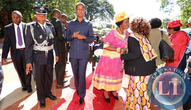 President Lungu at African Freedom Day Statehouse