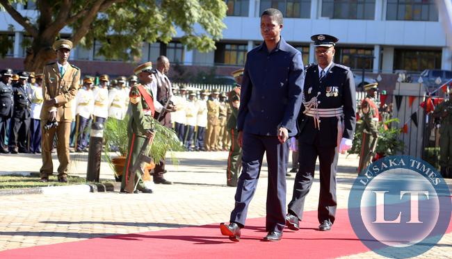 President Lungu at Freedom Statue