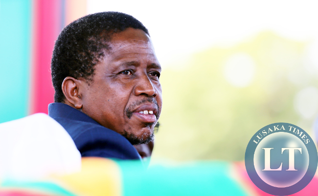 President Lungu at Labour day in Lusaka