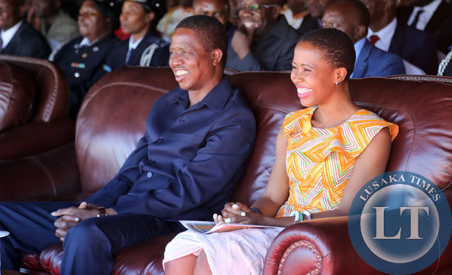 President Lungu with the Daughter Tasila