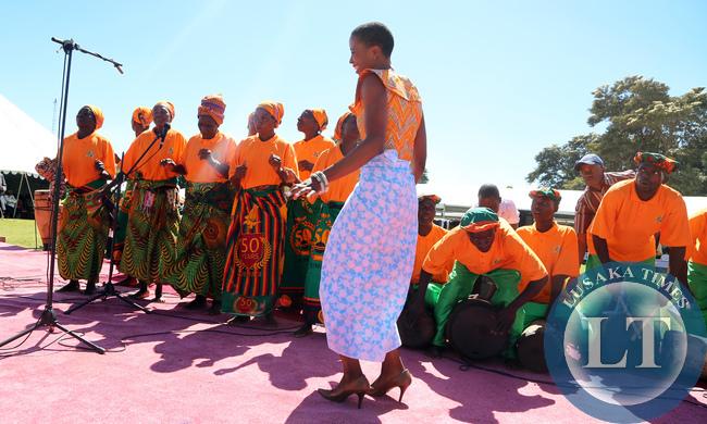 Tasila Lungu Dancing at African Freedom